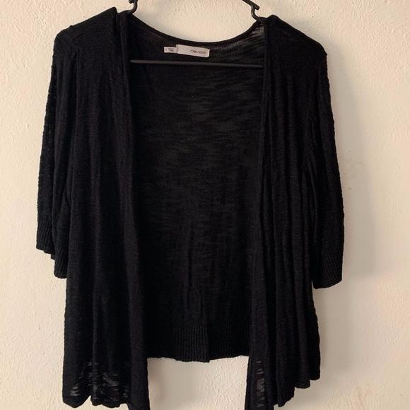 Maurices Sweaters - Black Drape Cardigan
